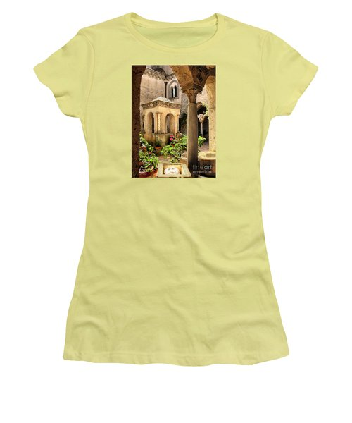 Villa Cimbrone. Ravello Women's T-Shirt (Junior Cut) by Jennie Breeze