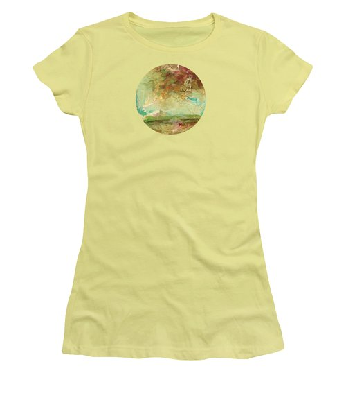 Women's T-Shirt (Junior Cut) featuring the painting Villa by Mary Wolf