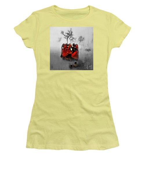 Village Women 01 Women's T-Shirt (Athletic Fit)