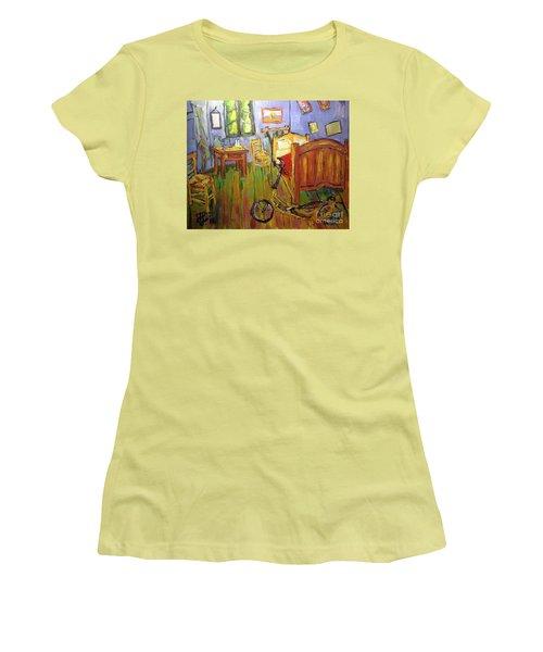 Vincent Van Go's Bedroom Women's T-Shirt (Athletic Fit)