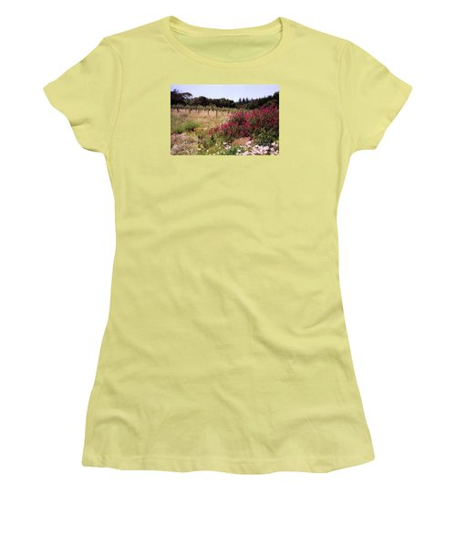 vines and flower SF peninsula Women's T-Shirt (Junior Cut) by Ted Pollard