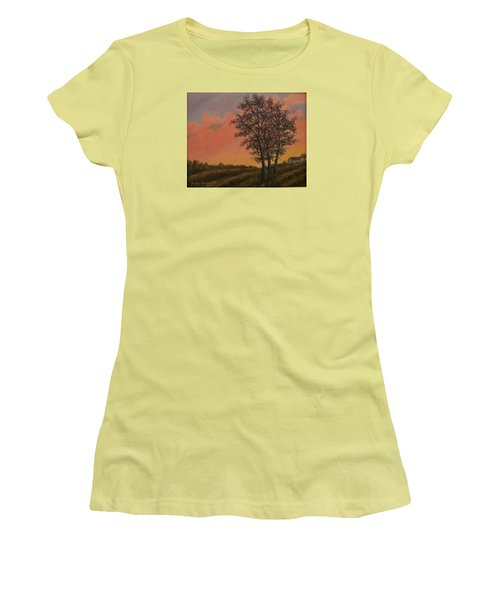 Vineyard Sundown Women's T-Shirt (Athletic Fit)