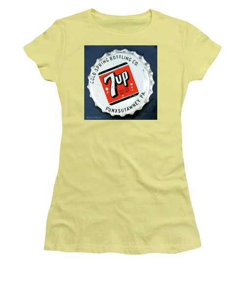 Vintag Bottle Cap, 7up Women's T-Shirt (Athletic Fit)