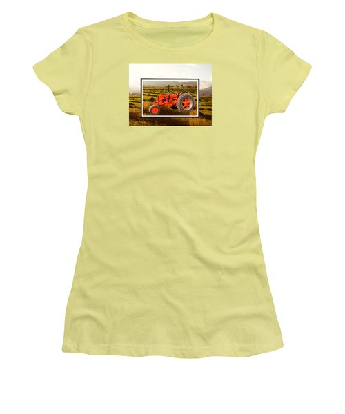 Vintage 1948 Case Dc Tractor Women's T-Shirt (Athletic Fit)