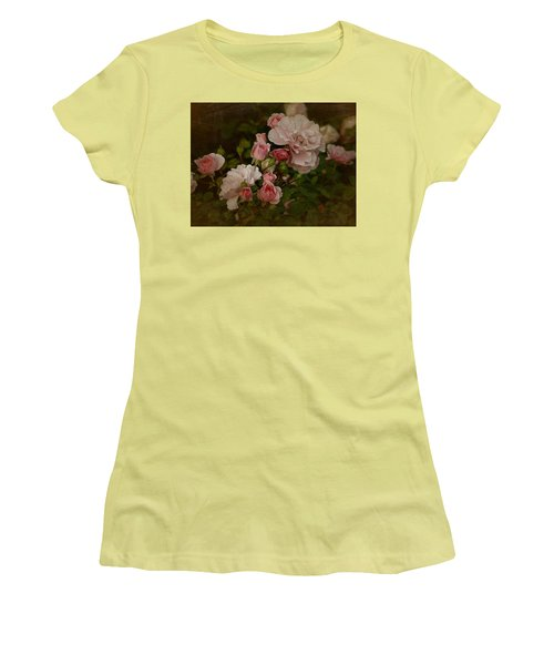 Women's T-Shirt (Junior Cut) featuring the photograph Vintage June 2016 Roses by Richard Cummings