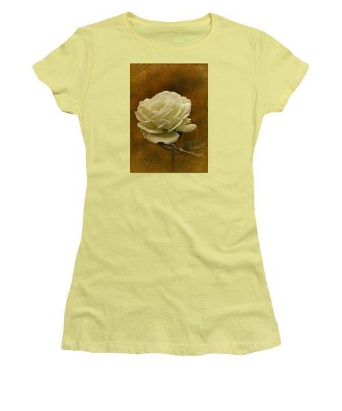 Vintage November White Rose Women's T-Shirt (Junior Cut) by Richard Cummings
