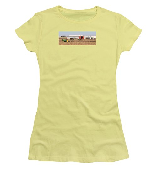 Vintage Plowing In Griswold Iowa Women's T-Shirt (Athletic Fit)