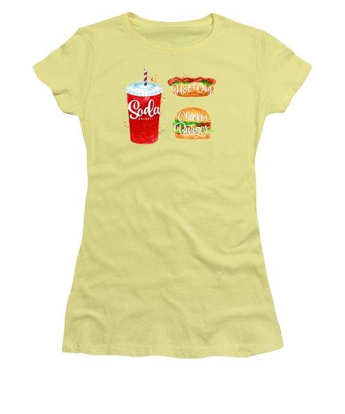 Vintage Soda Women's T-Shirt (Junior Cut) by Aloke Creative Store