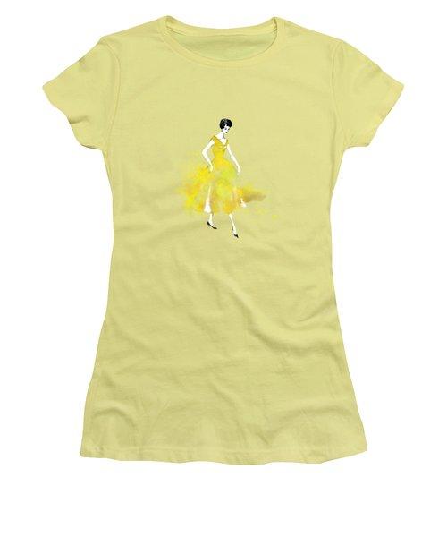 Vintage Yellow Dress Women's T-Shirt (Junior Cut) by Diana Van