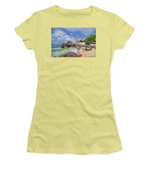 Women's T-Shirt (Junior Cut) featuring the photograph Virgin Gorda The Baths by Olga Hamilton