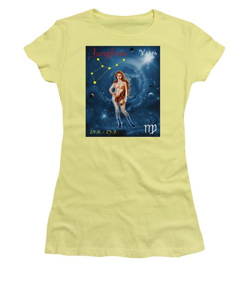 Virgo And The Stars Women's T-Shirt (Athletic Fit)