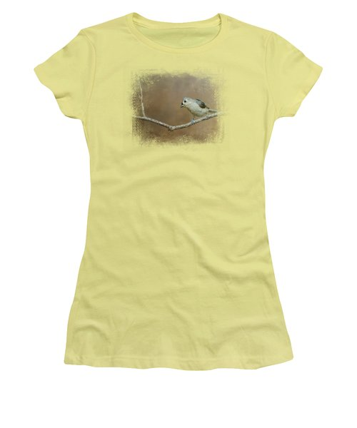 Visiting Tufted Titmouse Women's T-Shirt (Athletic Fit)