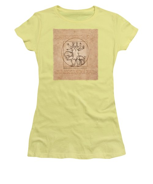 Vitruvian Squirrel Women's T-Shirt (Athletic Fit)