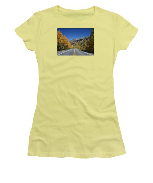 Vivid Fall Colors On The Million-dollar Highway In San Juan County In Colorado  Women's T-Shirt (Athletic Fit)