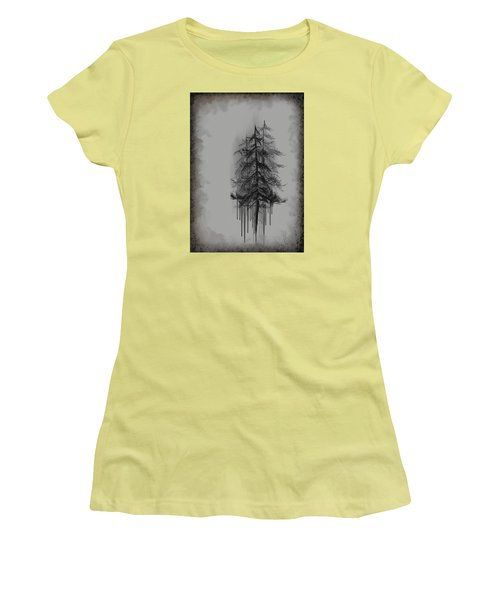Women's T-Shirt (Junior Cut) featuring the painting Voices by Annette Berglund