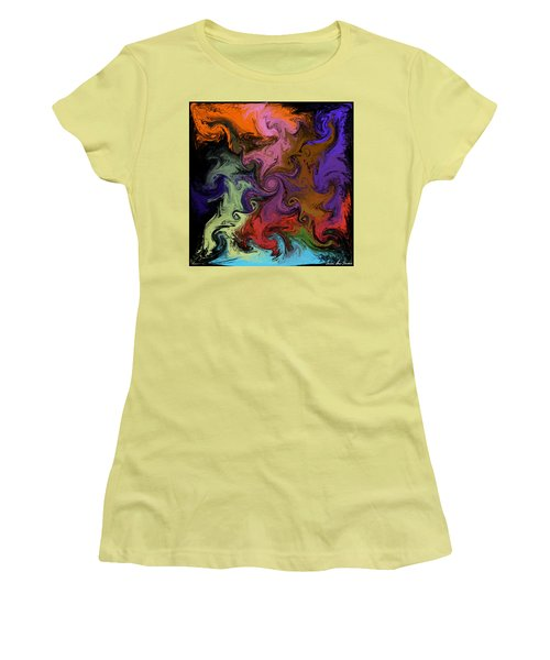 Women's T-Shirt (Athletic Fit) featuring the digital art Vortex Two by Iowan Stone-Flowers
