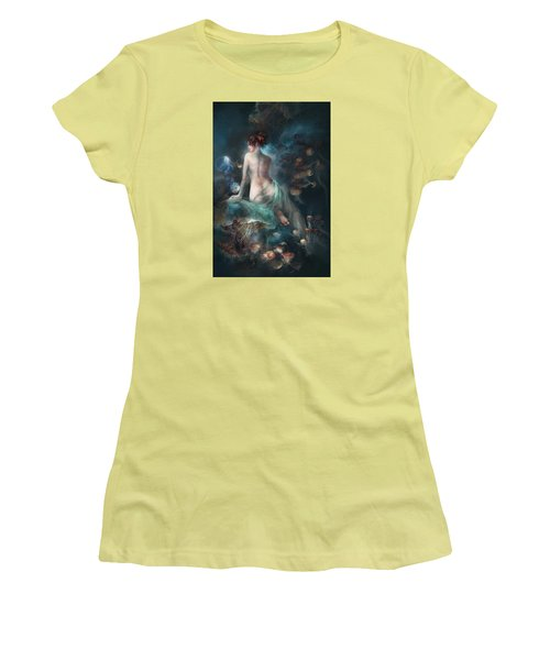 Women's T-Shirt (Junior Cut) featuring the digital art Voyage by Te Hu