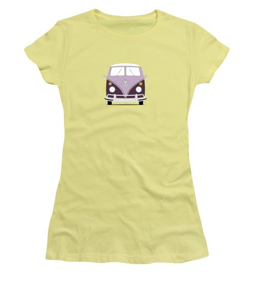 Vw Bus Purple Women's T-Shirt (Junior Cut) by Mark Rogan