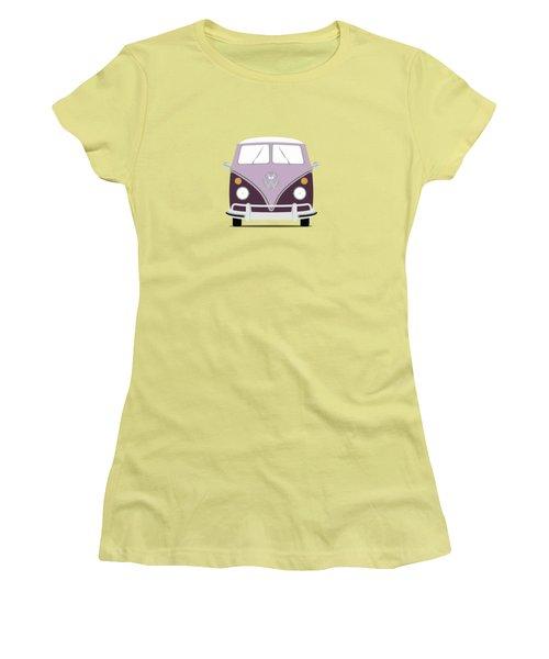Vw Bus Purple Women's T-Shirt (Athletic Fit)