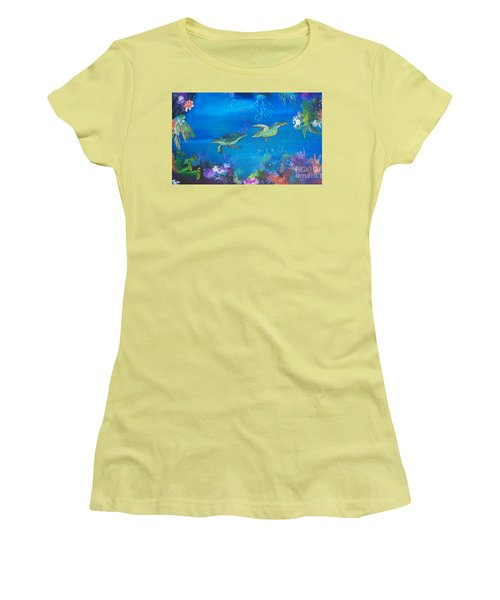 Wait For Me Women's T-Shirt (Junior Cut) by Lyn Olsen