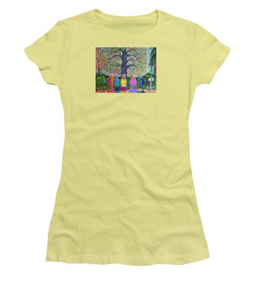 Waiting For The Bus Women's T-Shirt (Junior Cut) by Nick Gustafson