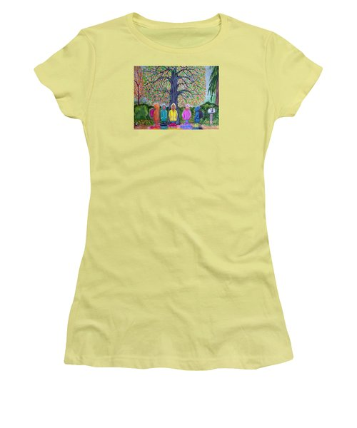 Waiting For The Bus Women's T-Shirt (Athletic Fit)