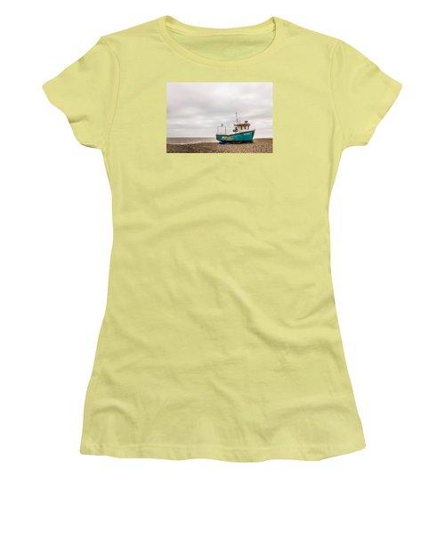 Waiting For The Tide Women's T-Shirt (Junior Cut) by David Warrington