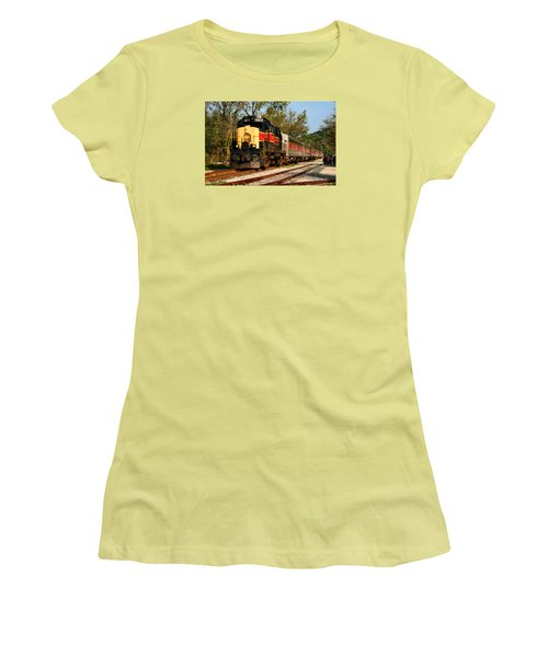Waiting For The Train Women's T-Shirt (Junior Cut) by Kristin Elmquist