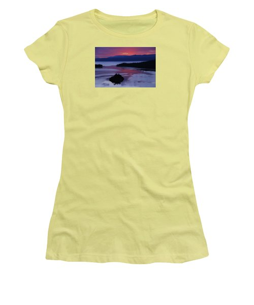 Wake Up In Lake Tahoe  Women's T-Shirt (Junior Cut) by Sean Sarsfield