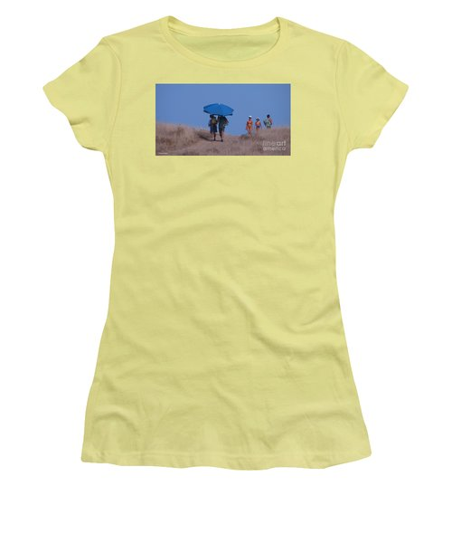 Walk To The Beach Women's T-Shirt (Athletic Fit)