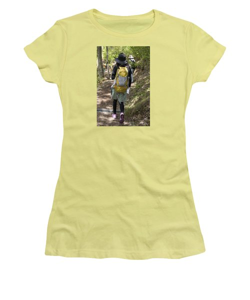Walking Down Women's T-Shirt (Athletic Fit)