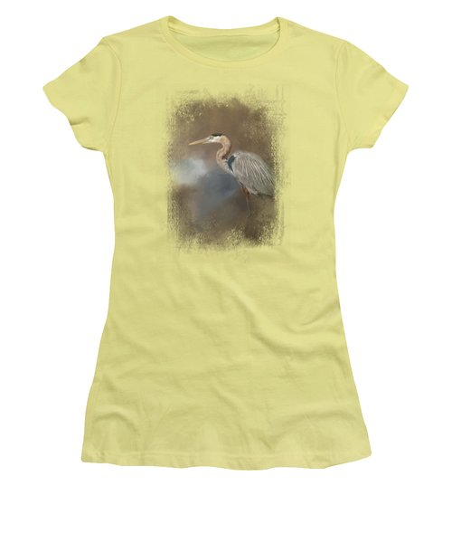 Walking Into Blue Women's T-Shirt (Junior Cut) by Jai Johnson