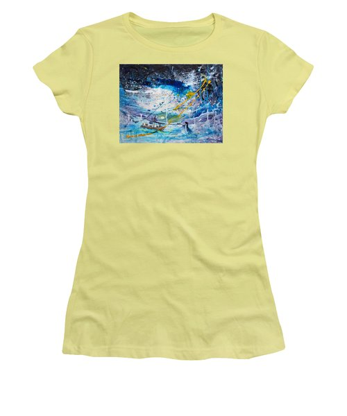 Walking On The Water Women's T-Shirt (Junior Cut) by Kume Bryant