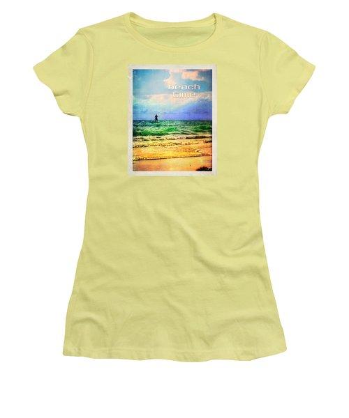 Women's T-Shirt (Junior Cut) featuring the photograph Beach Time by Tammy Wetzel