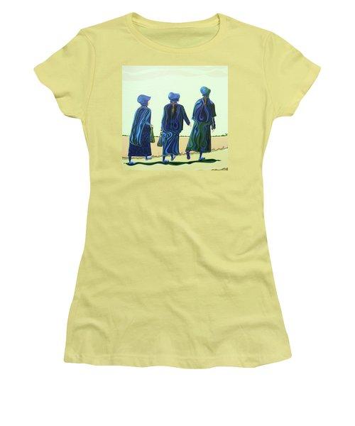 Walking The Walk Women's T-Shirt (Athletic Fit)