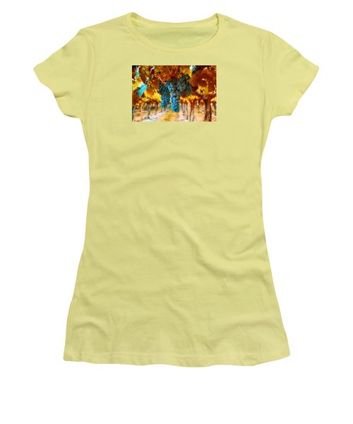 Walking Through The Grapes Women's T-Shirt (Athletic Fit)