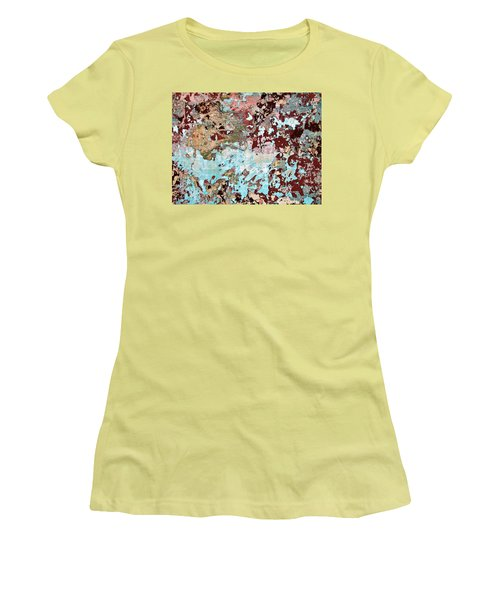 Women's T-Shirt (Junior Cut) featuring the photograph Wall Abstract 128 by Maria Huntley