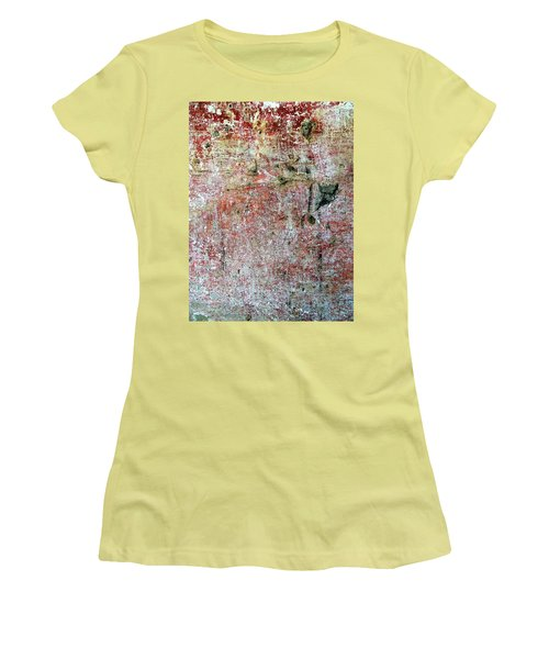 Women's T-Shirt (Junior Cut) featuring the photograph Wall Abstract 169 by Maria Huntley