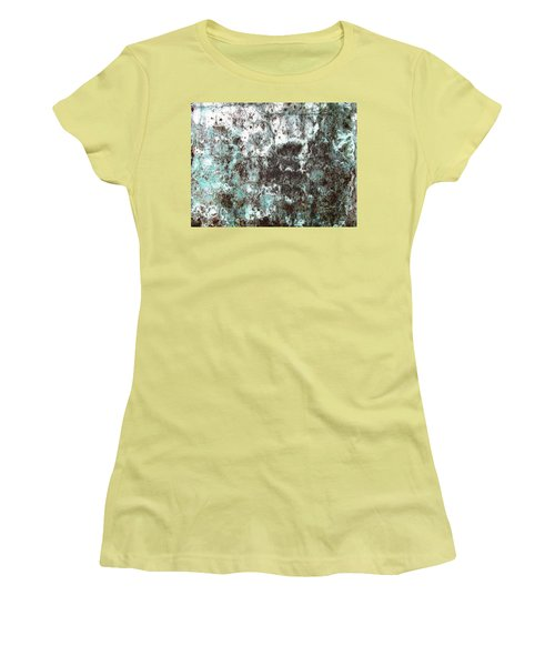 Women's T-Shirt (Junior Cut) featuring the photograph Wall Abstract 173 by Maria Huntley