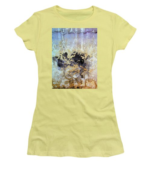 Women's T-Shirt (Junior Cut) featuring the photograph Wall Abstract 68 by Maria Huntley