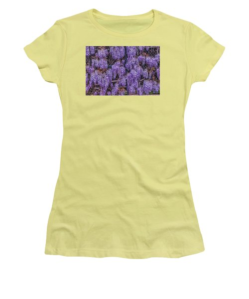 Wall Of Wisteria Women's T-Shirt (Athletic Fit)