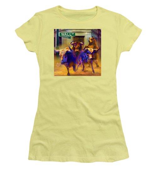 Wall Street Il Women's T-Shirt (Junior Cut) by Doug Kreuger