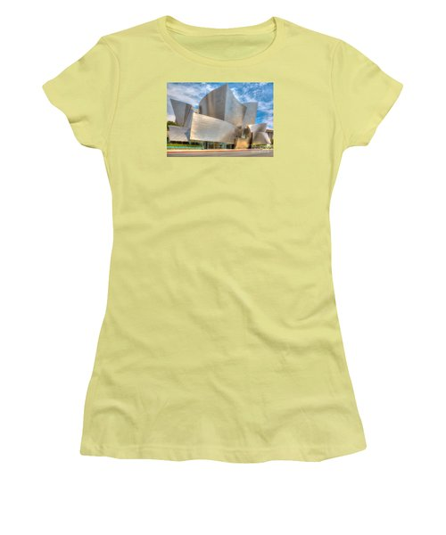 Women's T-Shirt (Junior Cut) featuring the photograph Walt Disney Concert Hall - Los Angeles by Jim Carrell