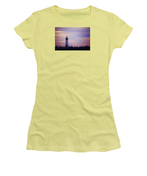 Women's T-Shirt (Junior Cut) featuring the photograph Walton Lighthouse by Lora Lee Chapman