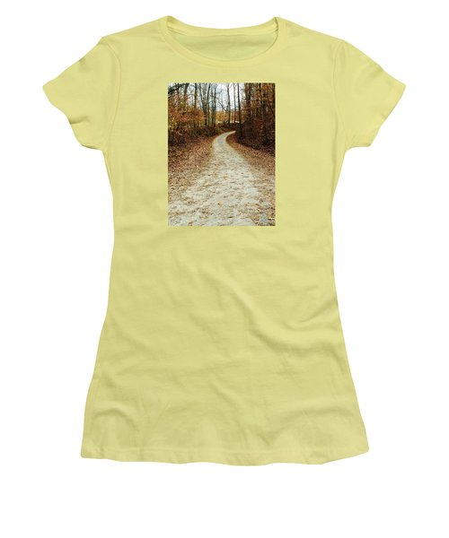 Wandering Road Women's T-Shirt (Athletic Fit)