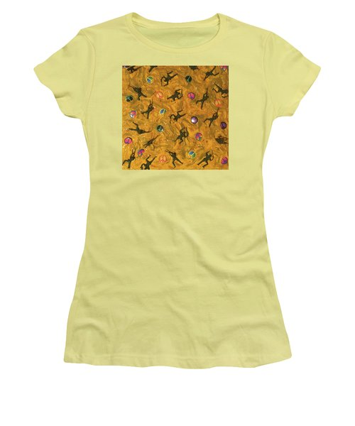 Women's T-Shirt (Junior Cut) featuring the painting War And Peace by Thomas Blood