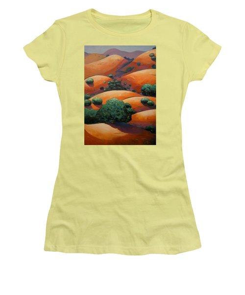 Warm Afternoon Light On Ca Hillside Women's T-Shirt (Junior Cut) by Gary Coleman