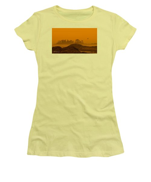 Warm Glow Women's T-Shirt (Junior Cut) by CR  Courson