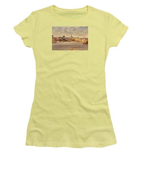 Warm Stockholm View Women's T-Shirt (Junior Cut) by RicardMN Photography