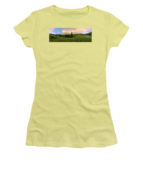 Women's T-Shirt (Junior Cut) featuring the photograph Warm The Soul Panorama by Chad Dutson